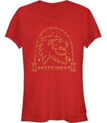 fifth sun harry potter gryffindor brave at heart lion line art women's short sleeve t-shirt