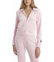 juicy couture velour classic hoodie jacket