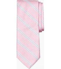 corbata heathered stripe rosado brooks brothers