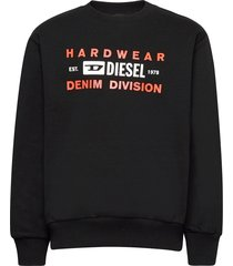 sgirkk10 over sweat-shirt sweat-shirt trui zwart diesel