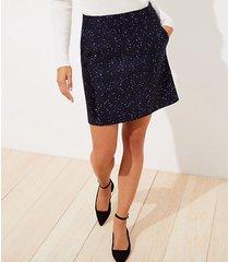 loft petite sequin tweed pocket shift skirt