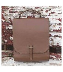 leather briefcase, 'discoverer' (mexico)