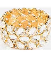alia crystal statement bracelet - crystal
