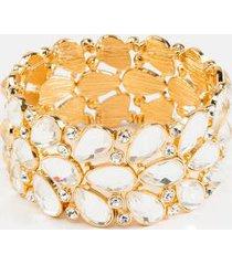alia crystal statement bracelet - crystal