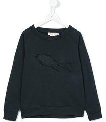 andorine frayed patch sweatshirt - grey