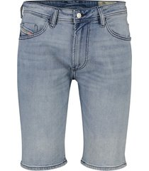 blauw denim short diesel