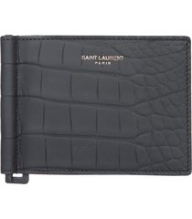 saint laurent bill clip wallet