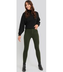 trendyol high waist skinny jeans - green