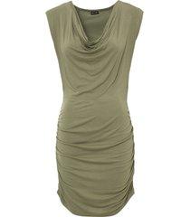 maglia lunga con drappeggio (verde) - bodyflirt