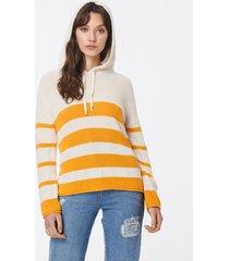 sweater naranja john l cook hoodie stripes