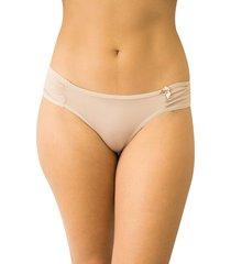calcinha tanga encontro casual qtal lingerie básico bege