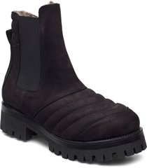 iggy shoes boots ankle boots ankle boot - flat svart nude of scandinavia