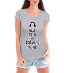 blusa criativa urbana keep calm kpop music t shirt