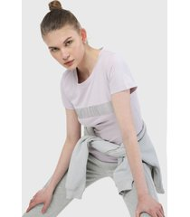 camiseta lila-plateado calvin klein