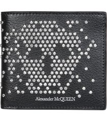 alexander mcqueen wallet with studs