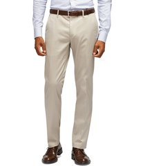men's big & tall bonobos stretch weekday warrior slim fit dress pants, size 34 x 36 - beige
