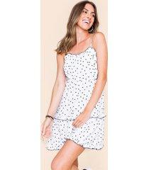 ainsley polka dot mini dress - white