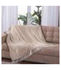 manta para sofá lisboa - 150 x 140 cm tabaco