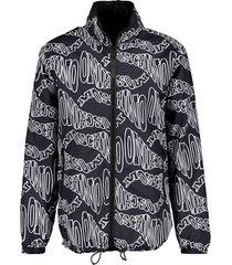 nylon jacket twisted logo
