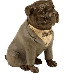 escultura decorativa de resina cachorro fast