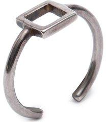 anel feminino frame - prata