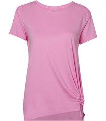 blusa le lis blanc louise iii malha algodão rosa feminina (lotus, gg)