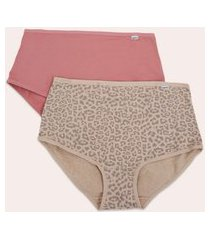 kit 2 calcinha cintura alta feminina delrio