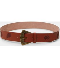 leather belt paisley - brown - 95