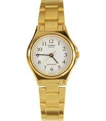 reloj casio ltp-1130n-7b de mujer-dorado