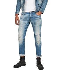 g-star 51001 b767 - 3301 slim jeans men denim light blue