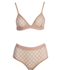 slip and lace logo bra