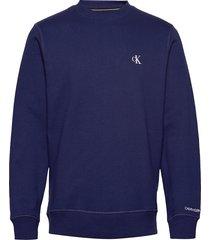 ck essential reg cn sweat-shirt trui blauw calvin klein jeans