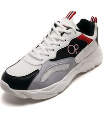 tenis lifestyle blanco-negro-gris-rojo ocean pacific cansor-h1