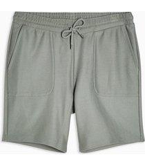 mens green twill jersey shorts
