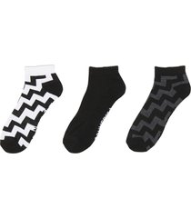 converse calcetines zig zag voltage crew black, white