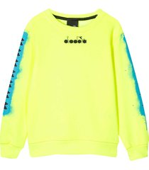 diadora yellow fluo sweatshirt with rear press