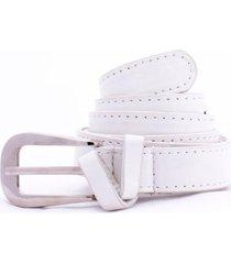 cinturón blanco carven