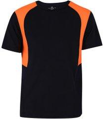 camiseta oxer gain - masculina - preto/laranja