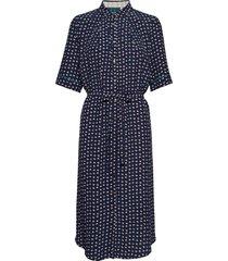 dress short sleeve jurk knielengte blauw noa noa