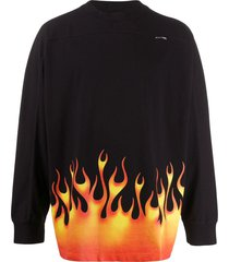 flame logo long-sleeved t-shirt
