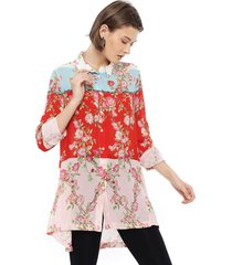 blusa desigual ml larga multicolor - calce holgado