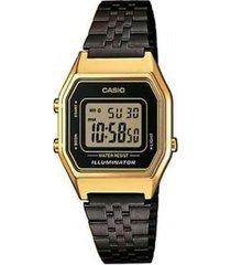 reloj casio la680wegb_1a negro acero inoxidable