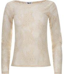 camiseta m/l encaje color blanco, talla 12
