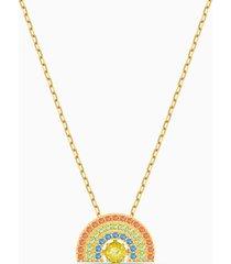 collana swarovski sparkling dance rainbow, multicolore chiaro, placcato color oro