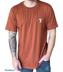 camiseta fist collection f marrón