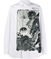 space print buttoned shirt