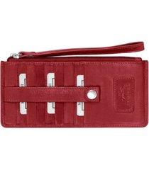 mancini casablanca collection rfid secure ladies wristlet