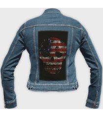 kurtka jeansowa damska american skull