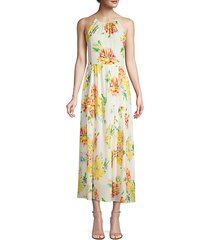 lana floral silk-blend hatler maxi dress
