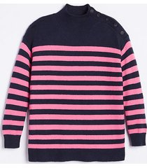 loft maternity striped button turtleneck sweater